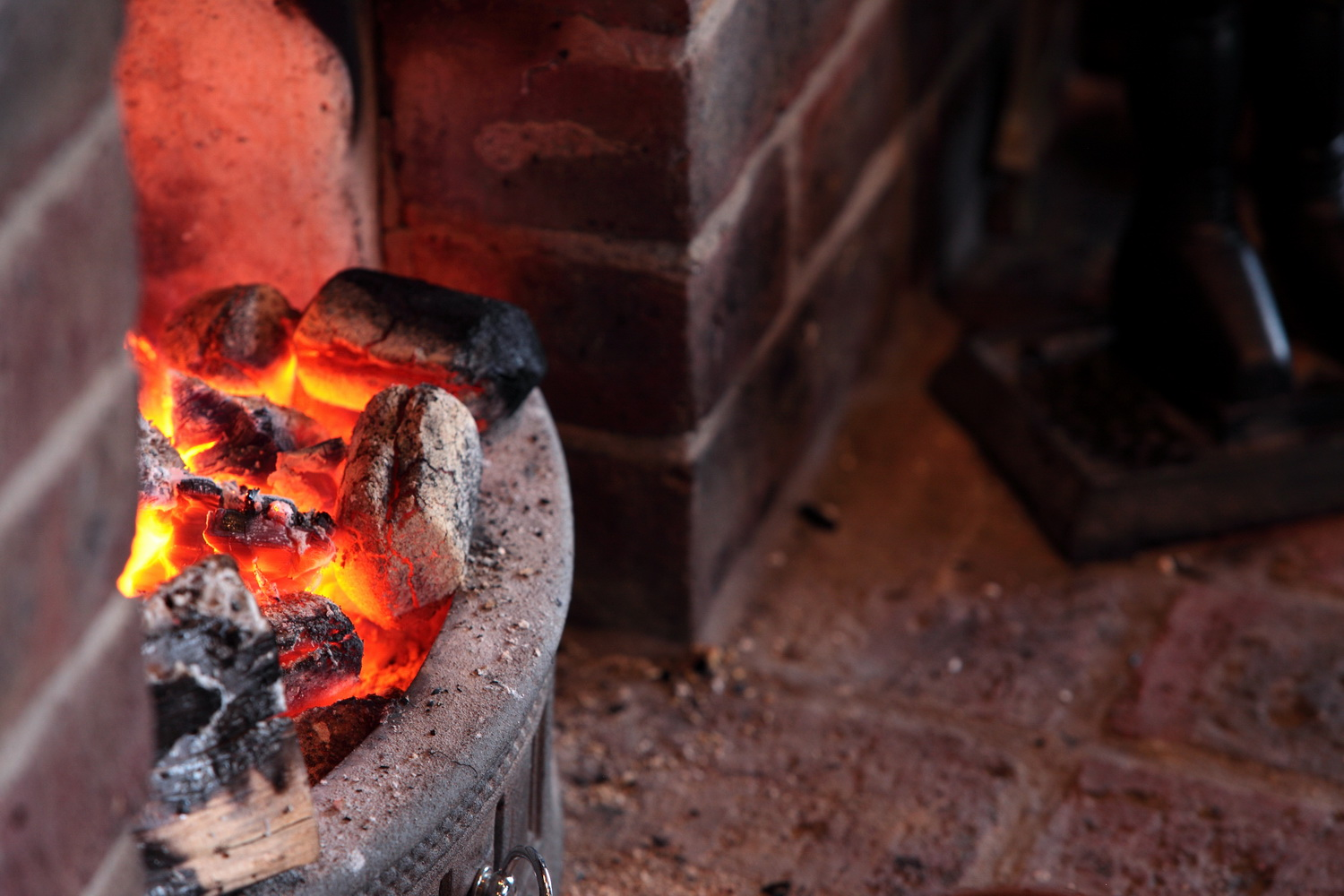 Log Fire within the Pub