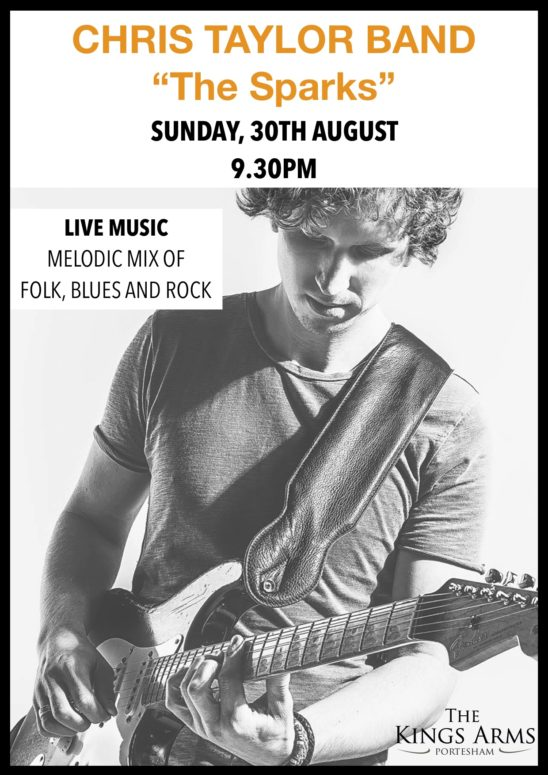 """Live Music – Chris Taylor Band """"The Sparks"""""""