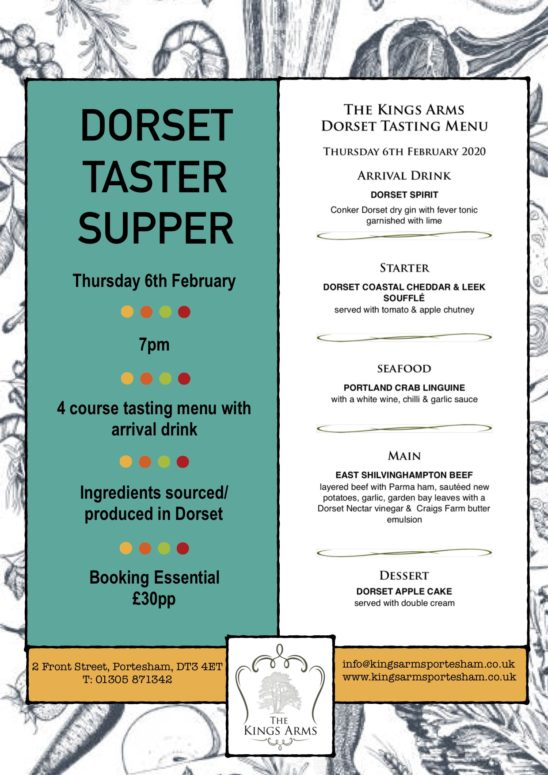 Dorset Taster Supper