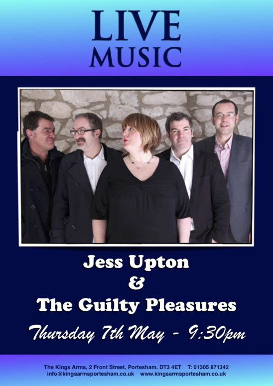 Live Music – Jess Upton & The Guilty Pleasures