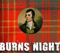 Burns Night – Wednesday 25th January