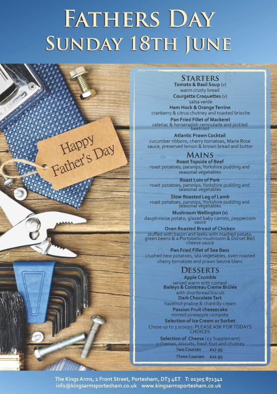 Fathers Day – Sunday 18th June