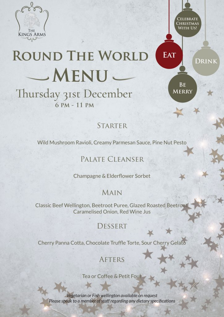 Round The World Menu